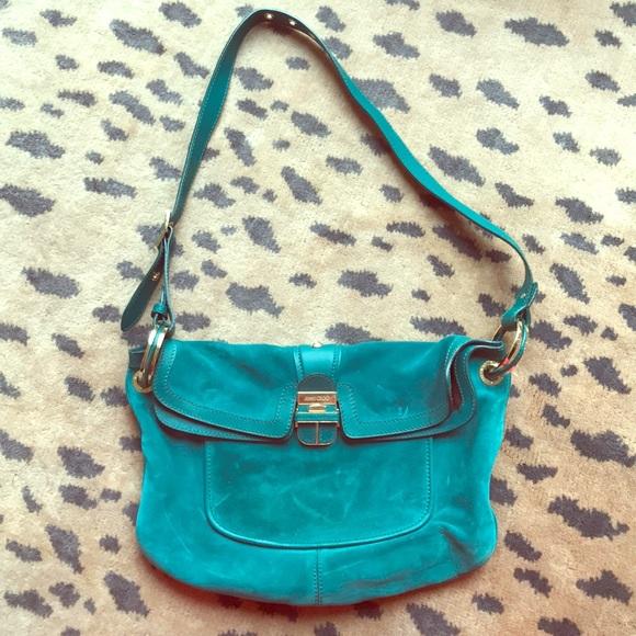 f87b06063e Jimmy Choo Bags   Turquoise Ultra Suede Purse   Poshmark